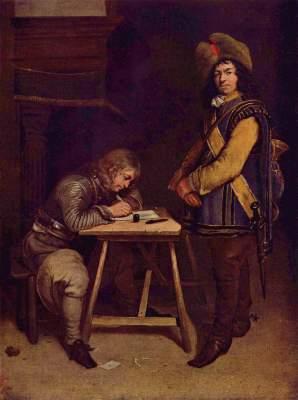 Der briefschreibende Offizier Gemäldegalerie