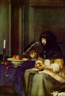 Die Apfelschälerin Kunsthistorisches Museum