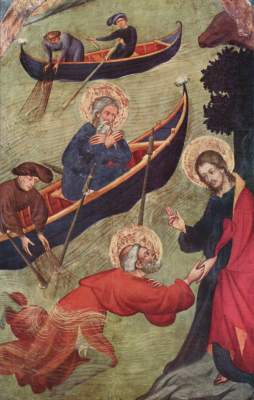 Petrusaltar: Jesus stützt Petrus auf dem Wasser S. Maria