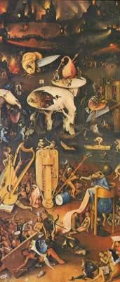 Der Garten der Lüste, rechter Flügel: Die Hölle Museo del Prado