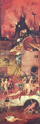 Heuwagen-Triptychon, rechter Flügel: Die Hölle Museo del Prado