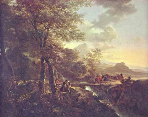 Italienische Landschaft mit Malern Rijksmuseum