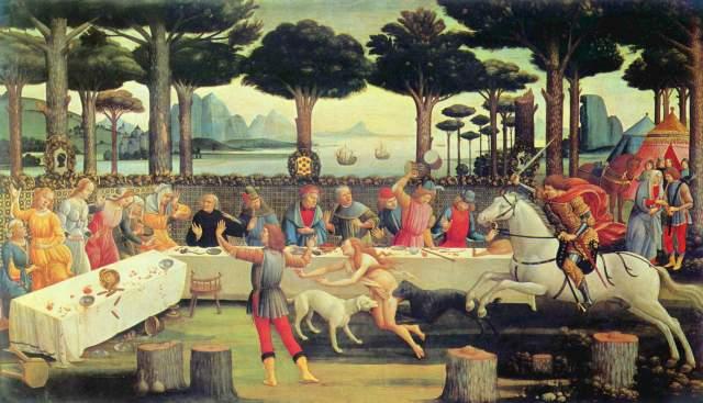 Das Gastmahl des Nastagio degli Onesti Museo del Prado