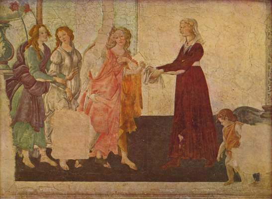 Giovanna Tornabuoni mit Venus und den Grazien Musée National du Louvre