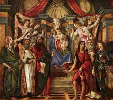 Madonna di S. Barnaba Galleria degli Uffizi