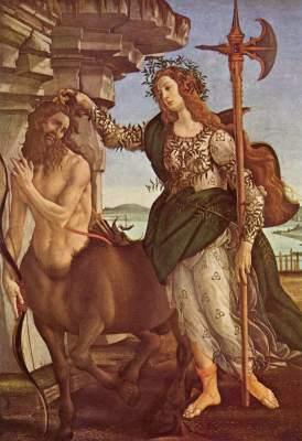 Pallas Athene und der Kentaur Galleria degli Uffizi