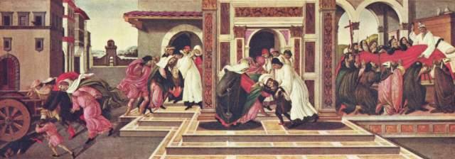 Vier Szenen aus dem Leben des heiligen Zenobius Gemäldegalerie