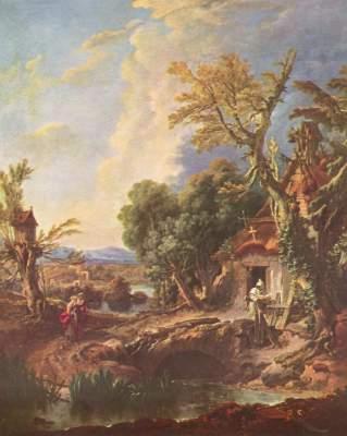 Landschaft mit dem Bruder Lucas Ermitage