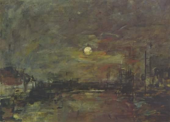 Abenddämmerung über dem Hafen von Le Havre Musée du Havre