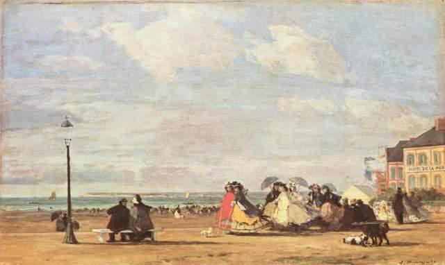 Kaiserin Eugenie am Strand von Trouville Art Gallery and Museum