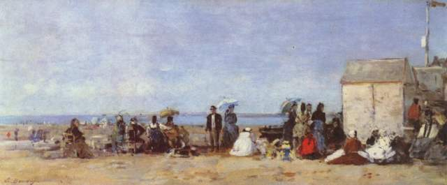 Strand in Trouville National Gallery