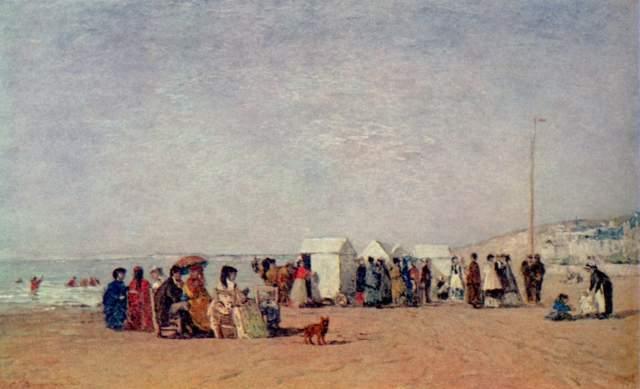 Strand von Trouville Privat-Slg.