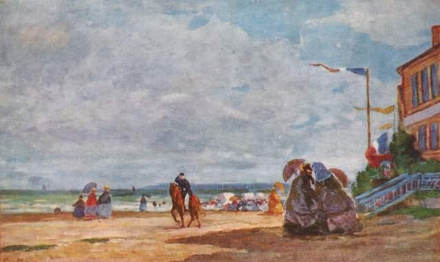 Strand von Trouville Slg. Ittleson