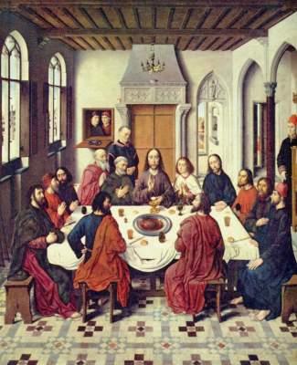Altar des Letzten Abendmahls, Mitteltafel: Einsetzung des Hl. Abendmahls St. Peter