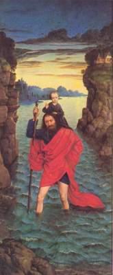 Flügelaltar Die Perle von Brabant, rechter Flügel: Heiliger Christophorus Alte Pinakothek