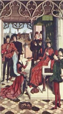 Gerechtigkeitstafel: Feuerprobe der Gräfin vor Otto III. Musée Royaux des Beaux Arts