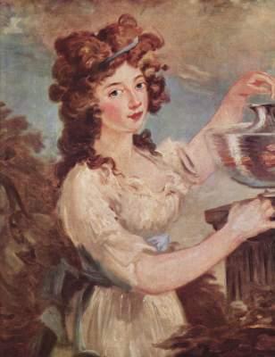 Junge Dame mit Goldfischen Konstmuseum