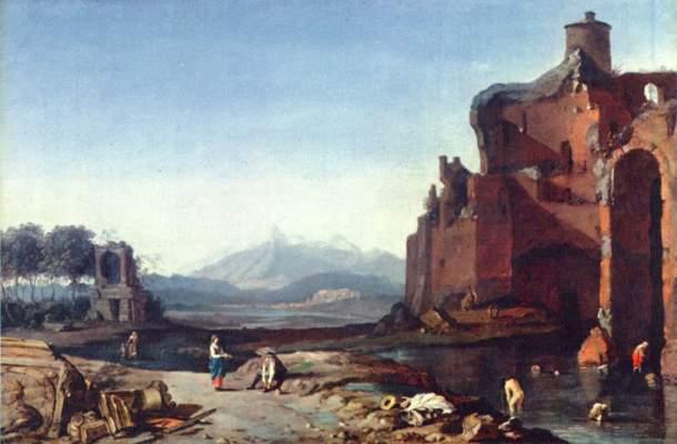 Italienische Landschaft  Königliche Gemäldegalerie Mauritshuis