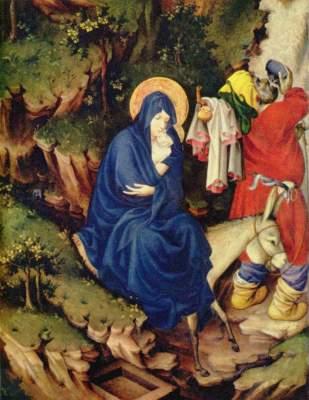 Altar für Philipp den Kühnen, Herzog von  Burgund, rechter Flügel: Die Flucht nach Ägypten (Ausschnitt) Musée des Beaux-Arts
