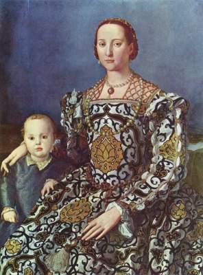 Eleonora von Toledo mit ihrem Sohn Giovanni Galleria degli Uffizi