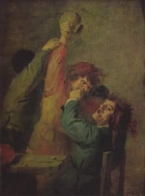 Bauernrauferei beim Würfelspiel Gemäldegalerie