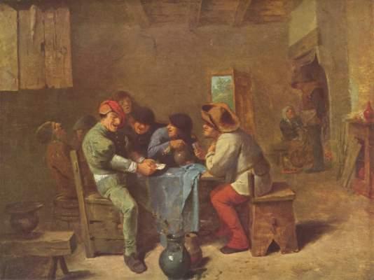 Kartenspielende Bauern in einer Schenke Alte Pinakothek