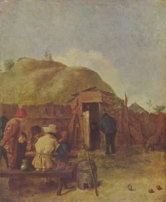 Trinker im Hof Musée Royaux des Beaux Arts
