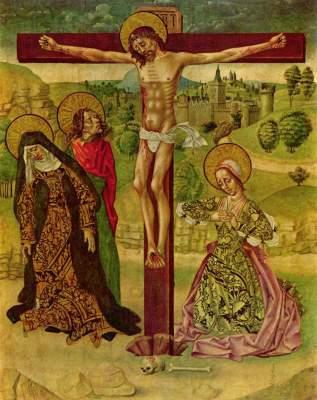 Christus am Kreuz (Mittelschrein eines aus fünf Tafeln bestehendes Polyptychons) Museum der Bildenden Künste