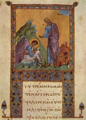 Der Evangelist Johannes diktierend