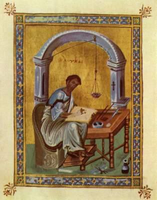 Der Evangelist Lukas lesend