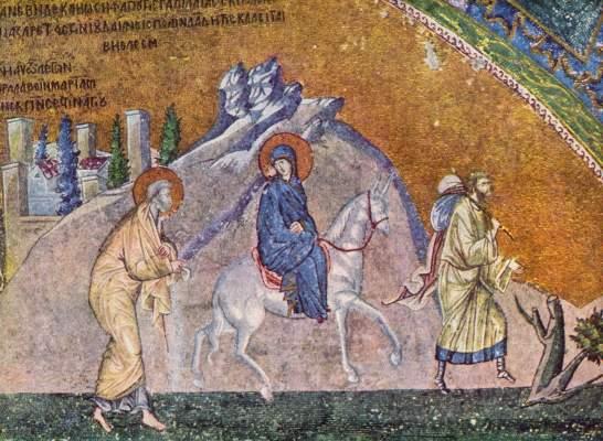 Die Reise nach Bethlehem (aus dem Narthex der Chora-Kirche) Chora-Kirche