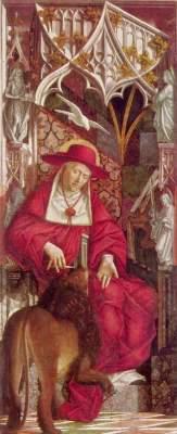 Kirchenväteraltar, linker Flügel innen: Hl. Hieronymus Alte Pinakothek