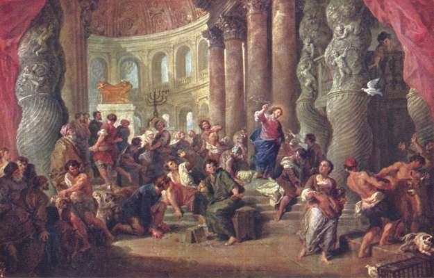 Jesus vertreibt die Händler aus dem Tempel Museo del Prado