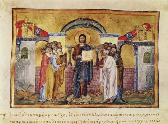 Miniatur aus dem Menologium Kaiser Basilius' II. Vatikan, Biblioteca