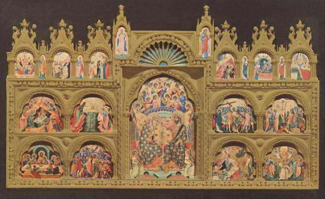 Polyptychon mit der Krönung Mariä Gallerie dell'Accademia