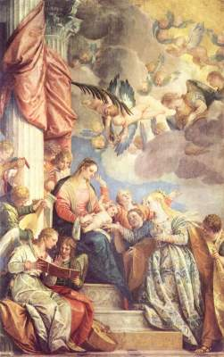 Mystische Vermählung der Hl. Katharina Gallerie dell'Accademia