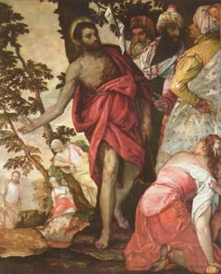 Predigt Johannes des Täufers Galleria Borghese