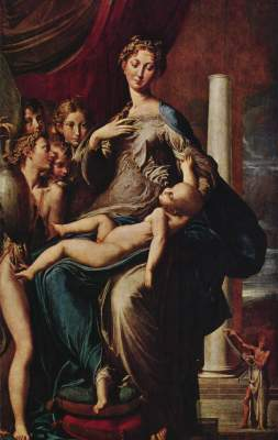 Madonna mit dem Langen Hals Galleria degli Uffizi
