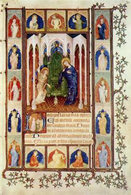 Petites Heures des Herzogs Jean de Berry: Verkündigung Bibliothčque Nationale