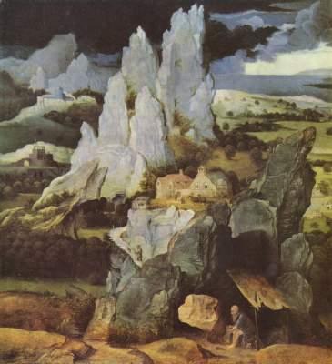 Hl. Hieronymus in einer felsigen Landschaft National Gallery