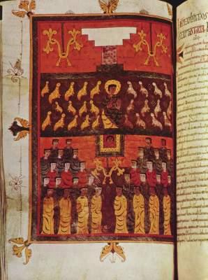 Die Seelen der Märtyrer (aus dem Apokalypsen-Kommentar des Beatus von Liebana) British Museum