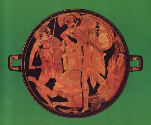 Achill tötet Penthesilea (Schale 2689) Antikensammlungen
