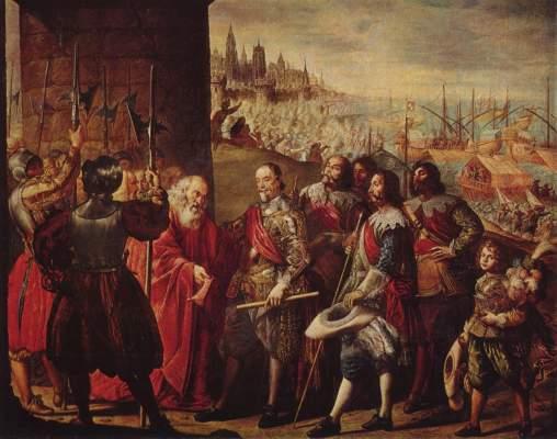 Die Entsetzung Genuas durch den Marqués de S. Cruz Museo del Prado