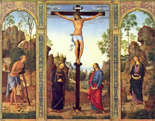 Kreuzigung mit Maria, Johannes, Hieronymus und Maria  Magdalena National Gallery of Art