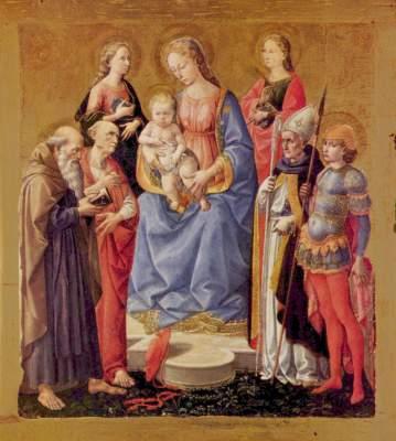 Maria mit Kind und sechs Heilige Metropolitan Museum of Art