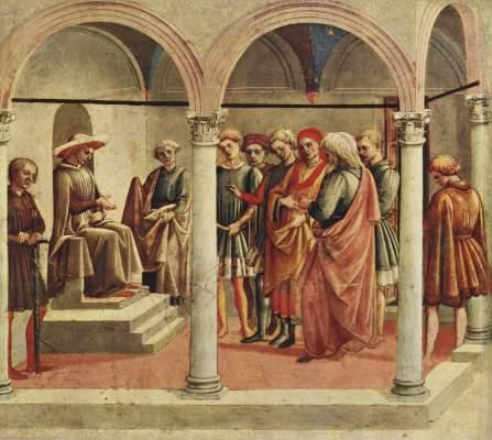 Szene aus dem Leben der Griseldis (von zwei Szenen) Galleria dell'Accademia Carrara