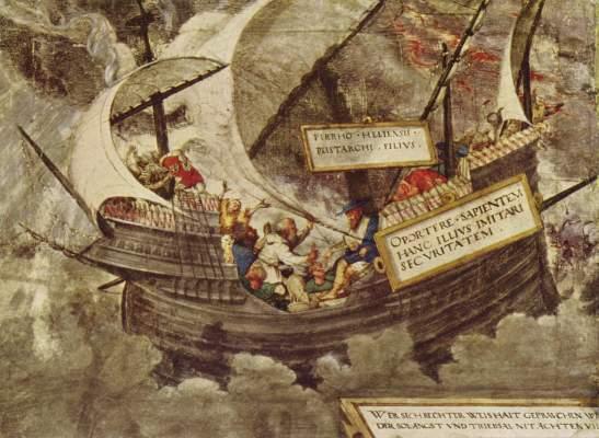 Der Philosoph Pyrrhon in stürmischer See Alte Pinakothek