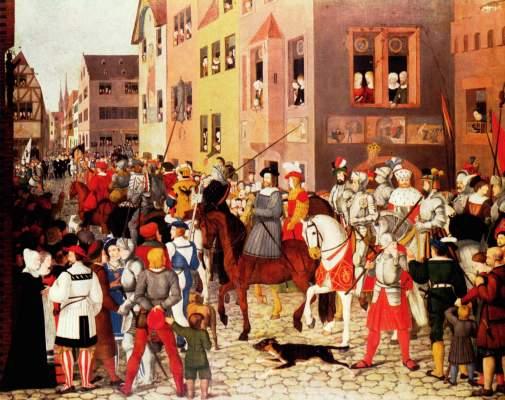 Einzug Kaiser Rudolfs von Habsburg in Basel Städelsches Kunstinstitut