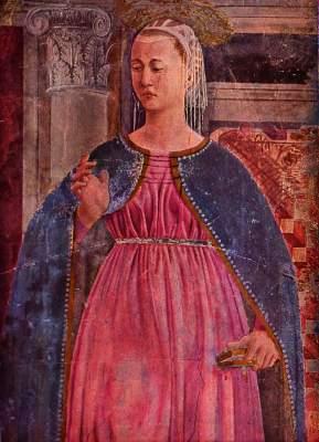 Jungfrau der Verkündigung (Wandbild, Ausschnitt) San Francesco