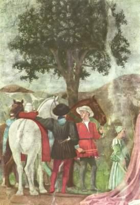 Legende vom Heiligen Kreuz (aus den Fresken zur Legende vom Heiligen Kreuz) San Francesco